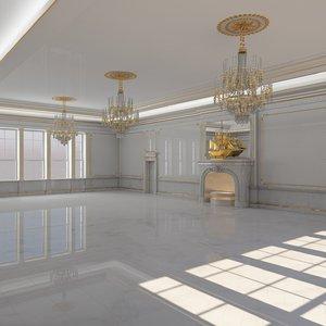 classical interior 3D model
