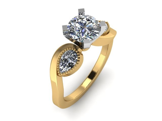 toned ring 3D model