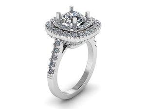 3D model halo ring