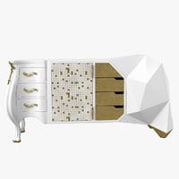 opium evo sideboard 3D model