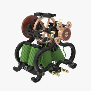 antique electro magnetic engine 3D model