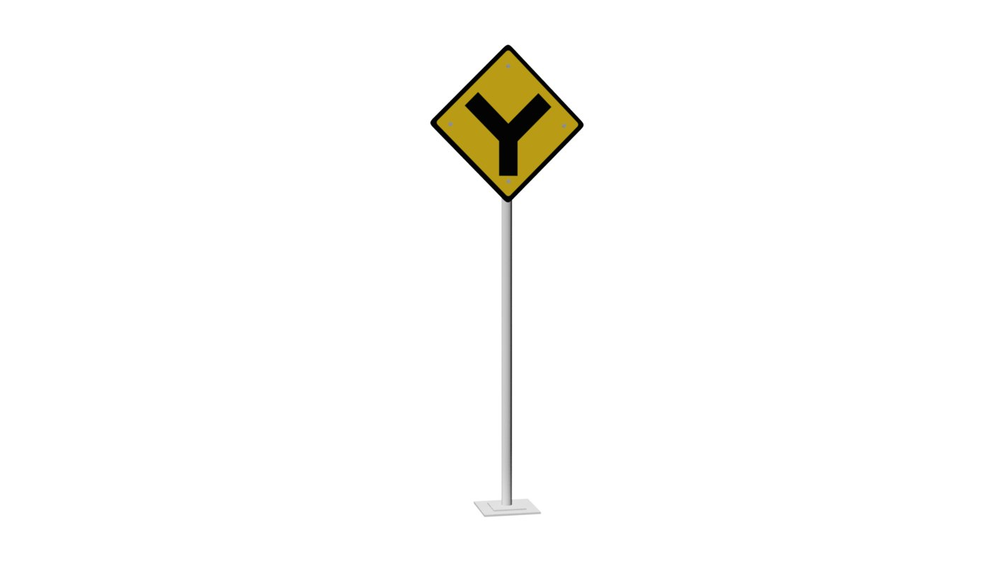 traffic signal alternate route 3D model