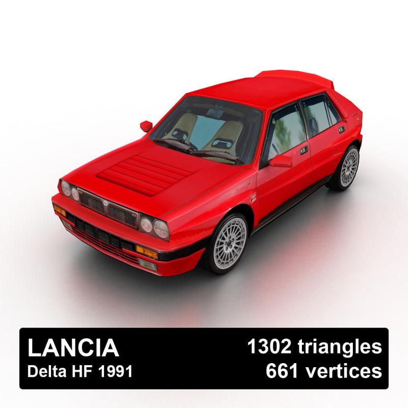 3D 1991 lancia delta hf model