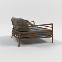 3D flax armchair