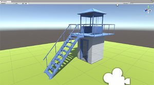 3D security tower model