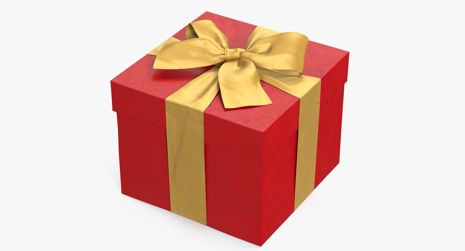 3D gift box red