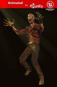 3D evil zombie model
