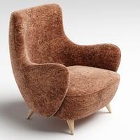 3D barrel chair kagan