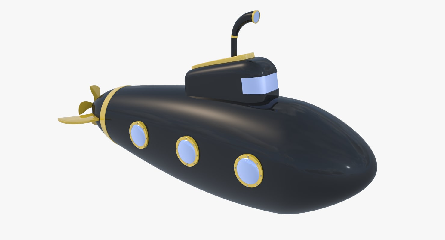 stylized cartoon black - 3D model