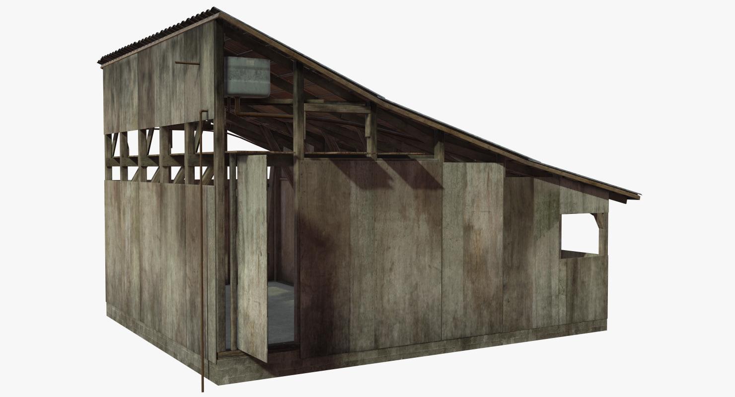 barrack shed 3D model
