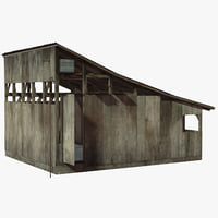 barrack shed 3D model