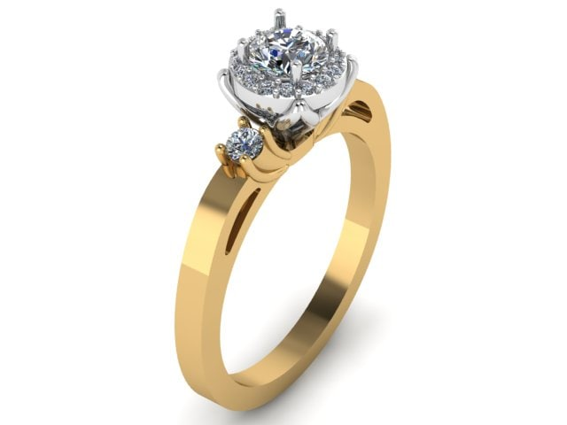 simple design engagement ring 3D model