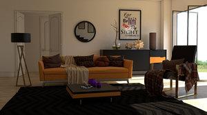 rendered 3D model
