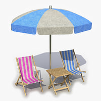 Beach Chair Umbrella Table