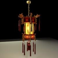 3D chinese lantern palace model