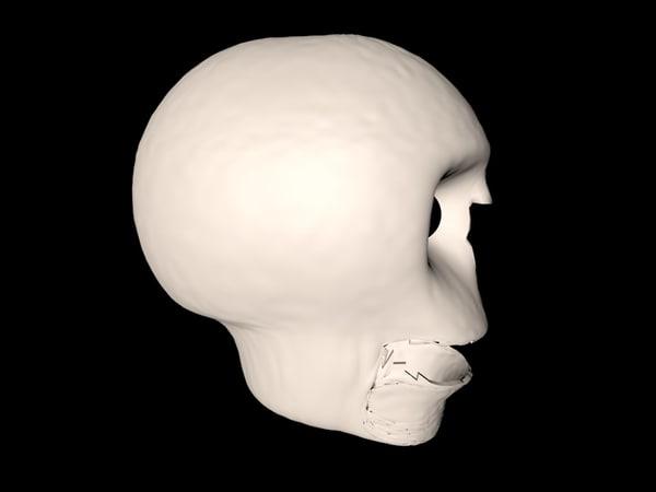 3D funny talking skull model