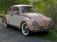 3D model volkswagen beetle fusca 1969