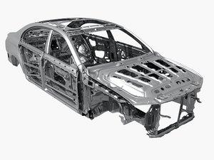 3D body car frame