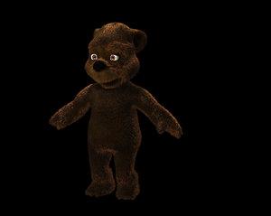 cute toon bear base 3D model