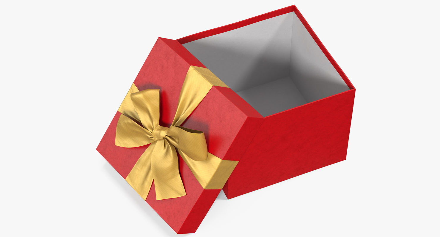gift box open red 3D model