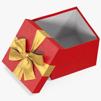 gift box open red 3D model