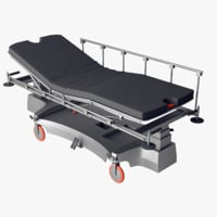 realistic life support bed model