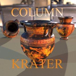 3D column krater