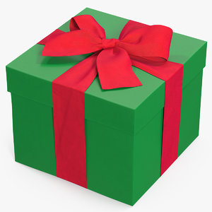 3D gift box green