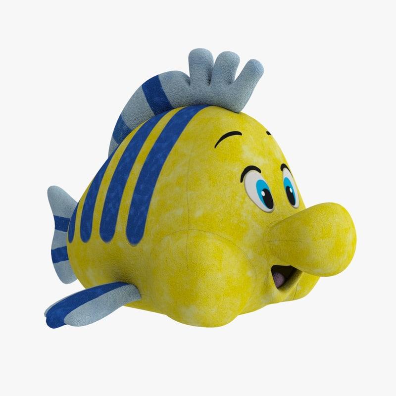 toy soft flounder 3D model