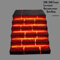 3D lava stairway