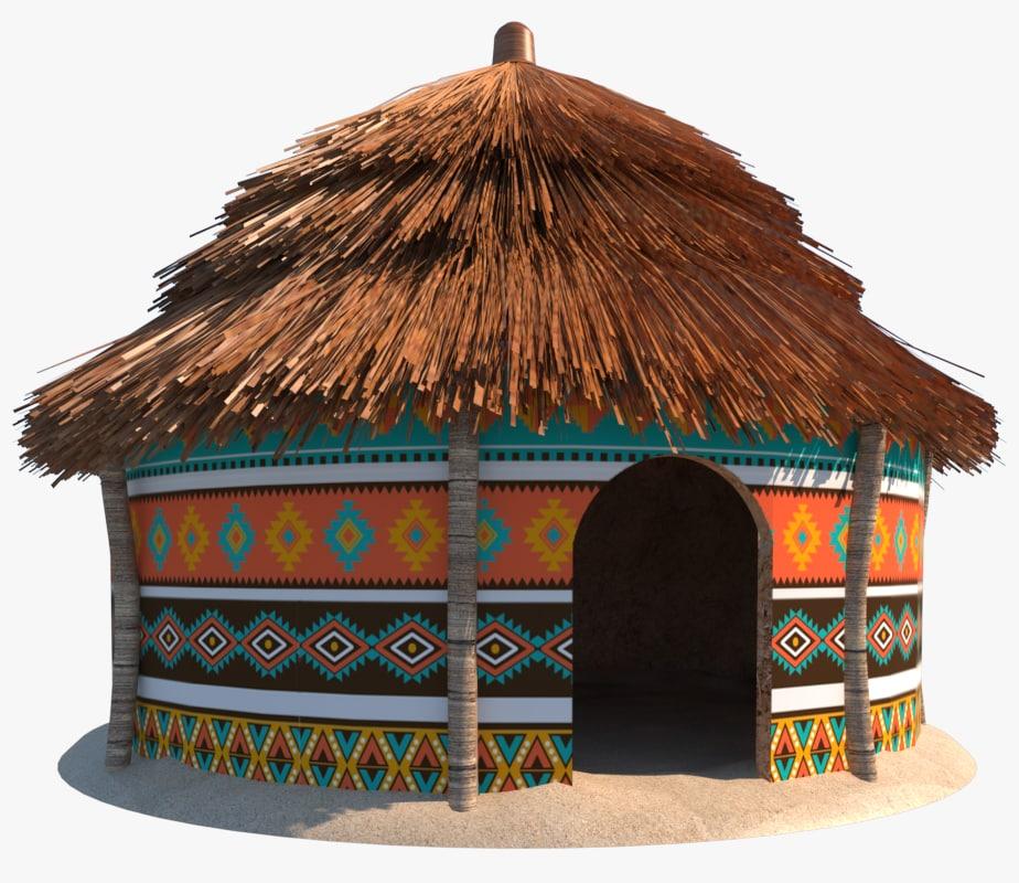 Mode Hut: African Hut 3D Model