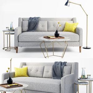 sofa crosby set 3D model