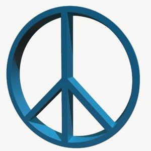 peace symbol 3D
