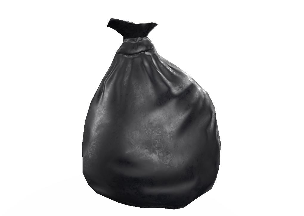 dustbin bag pbr 3D model