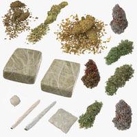 marijuana drug baggie 3D