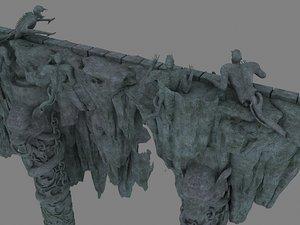 mountains rocks model