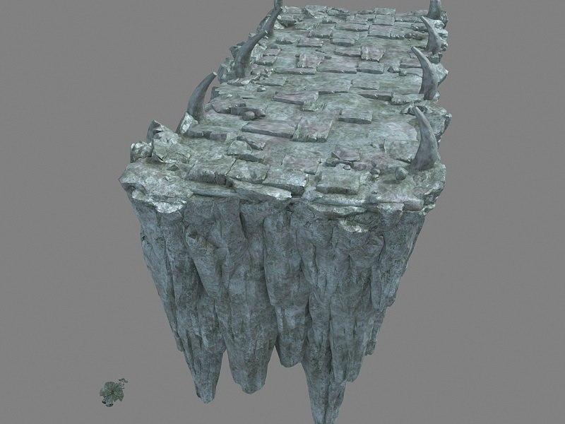 3D mountains rocks