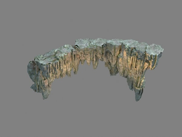 mountains rocks 3D model