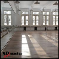 3D dance balet scool interior