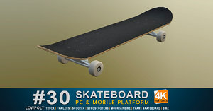 skate board 3D model
