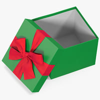 gift box open green 3D