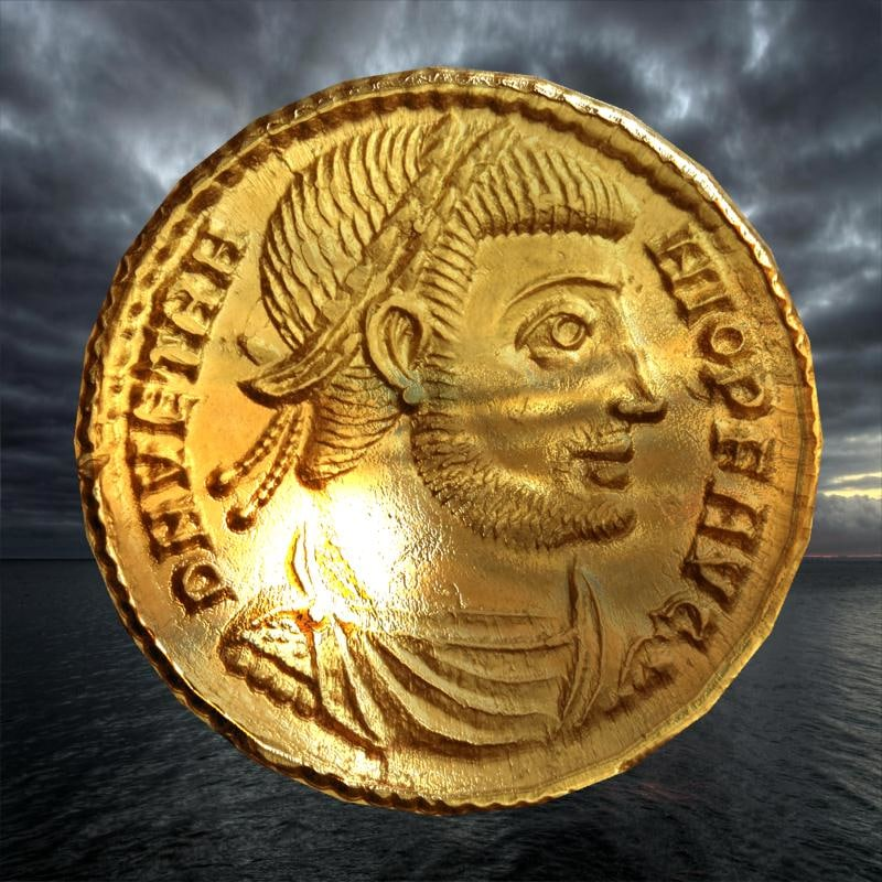 3D ancient coin