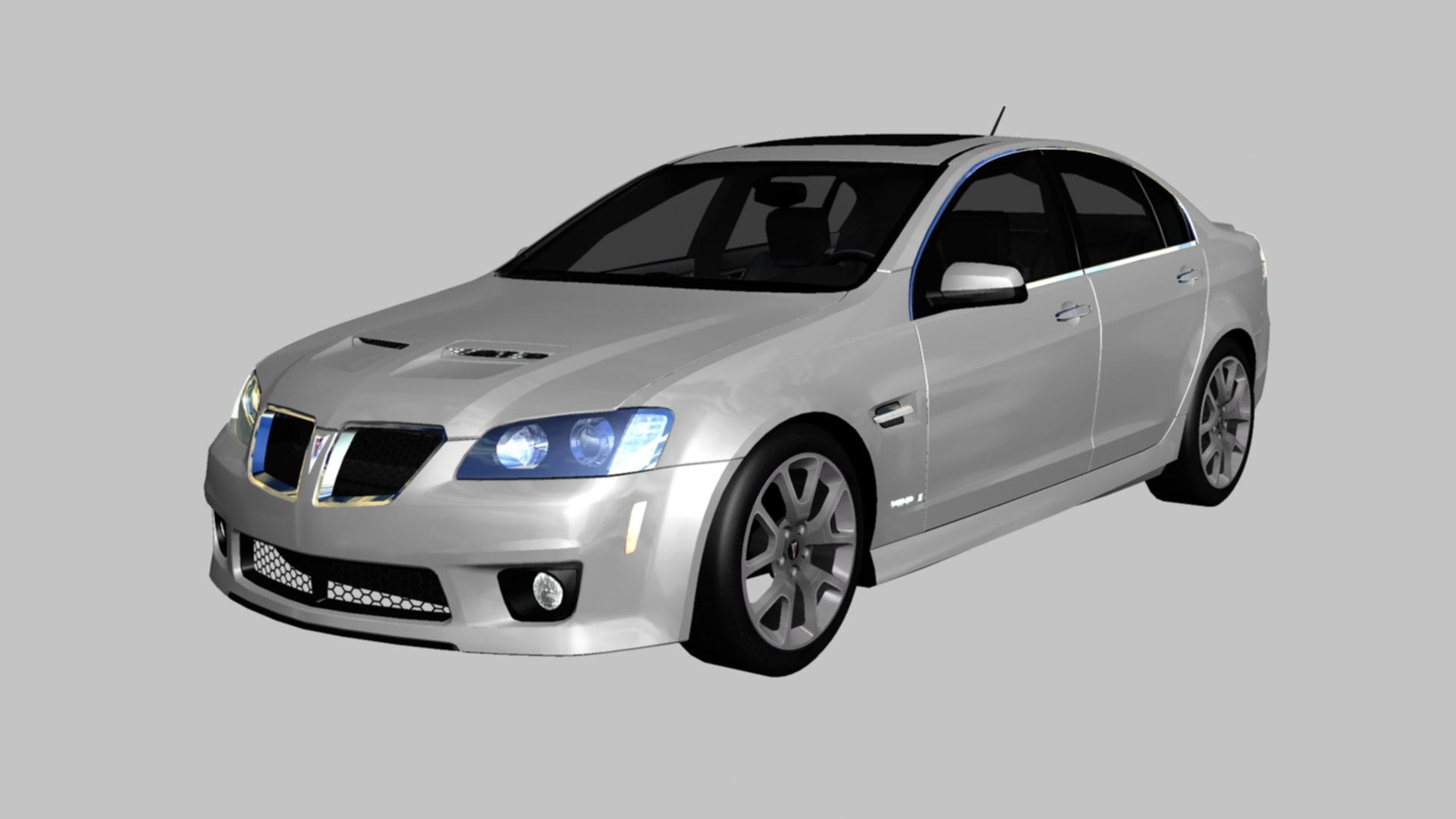 pontiac g8 2009 3D model