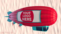 3D blimp airship model