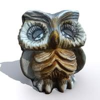 3D scanned owl model
