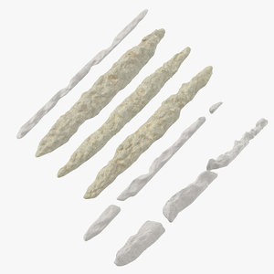 lines cocaine heroin crystal 3D