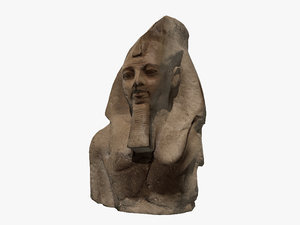 egyptian stone bust model