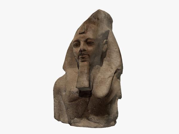 egyptian stone bust model