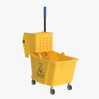 3D realistic bucket mop model