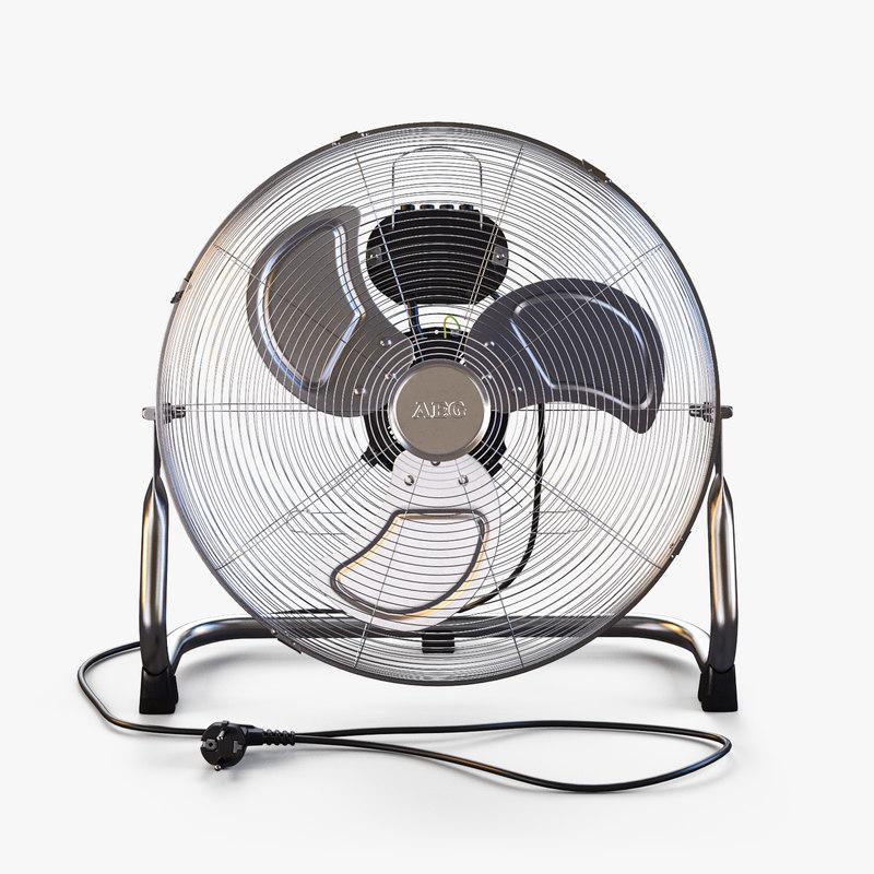 3D model floor-mounted fan